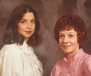 Mom and me in the late 70
