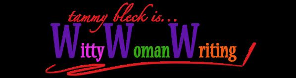 Witty Woman Writing logo